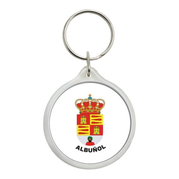 llavero redondo escudo heraldico albunol