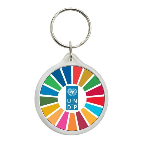 llavero redondo ods desarrollo sostenible undp