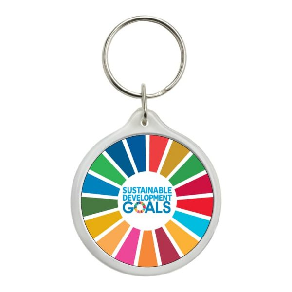 1087 llavero redondo ods desarrollo sostenible sustainable development goals 3
