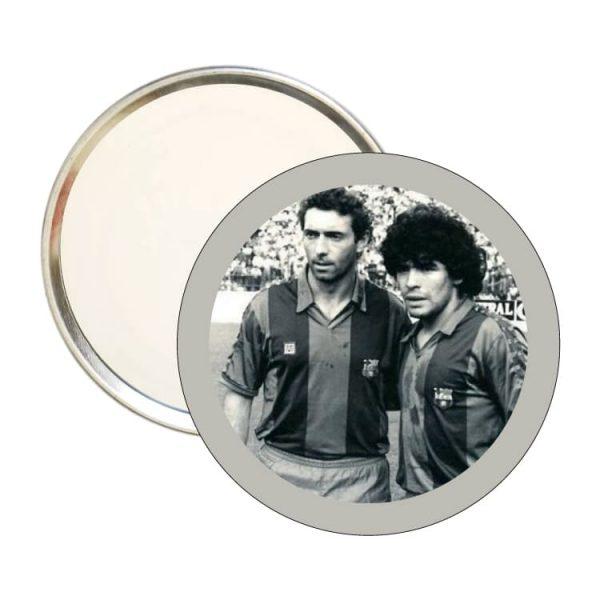 espejo redondo maradona con quini