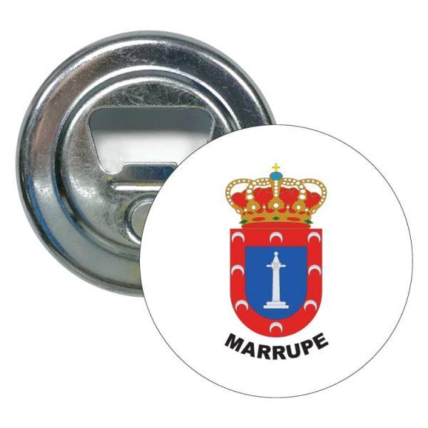 abridor redondo escudo heraldico marrupe