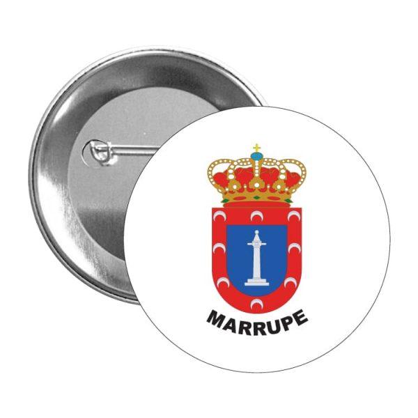 chapa escudo heraldico marrupe