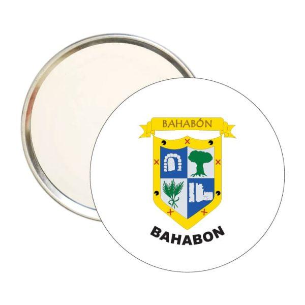 espejo escudo heraldico bahabon