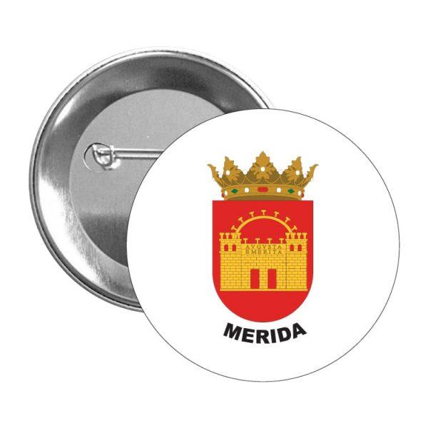 chapa escudo heraldico merida