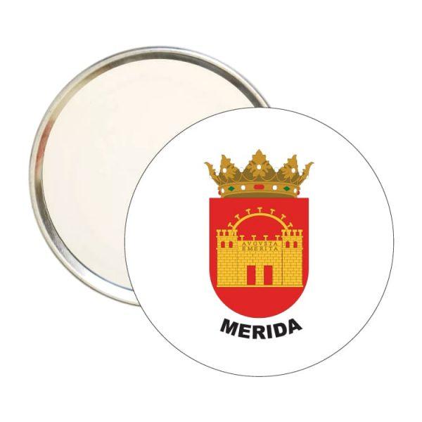 espejo redondo escudo heraldico merida