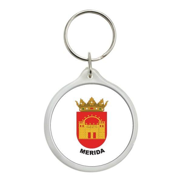 llavero redondo escudo heraldico merida