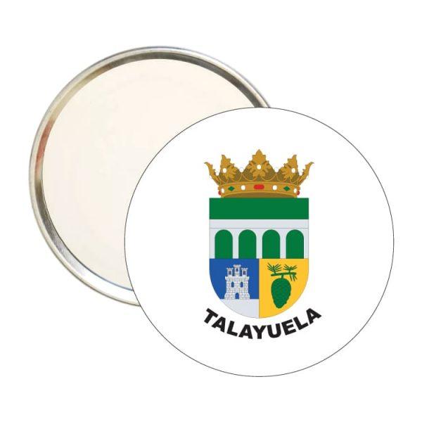 espejo redondo escudo heraldico talayuela