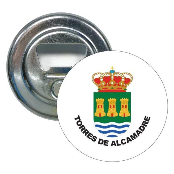 abridor redondo escudo heraldico torres de alcamadre