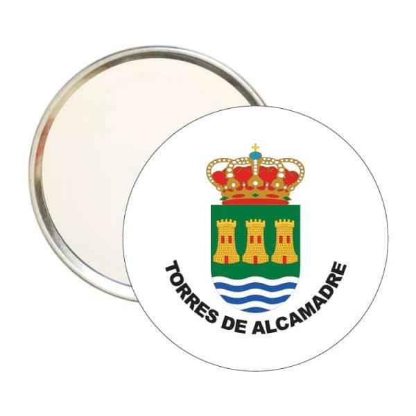 espejo redondo escudo heraldico torres de alcamadre