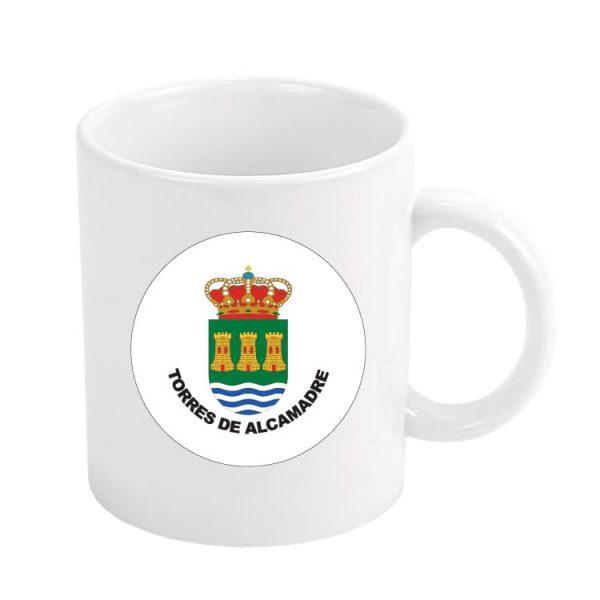 taza escudo heraldico torres de alcamadre