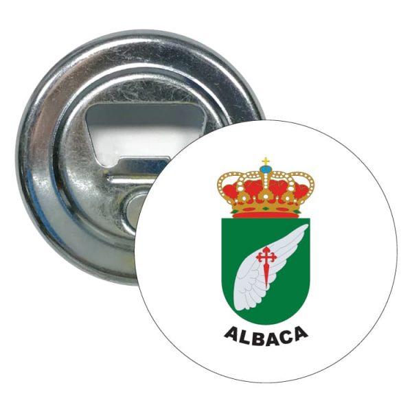 abridor redondo escudo heraldico albaca