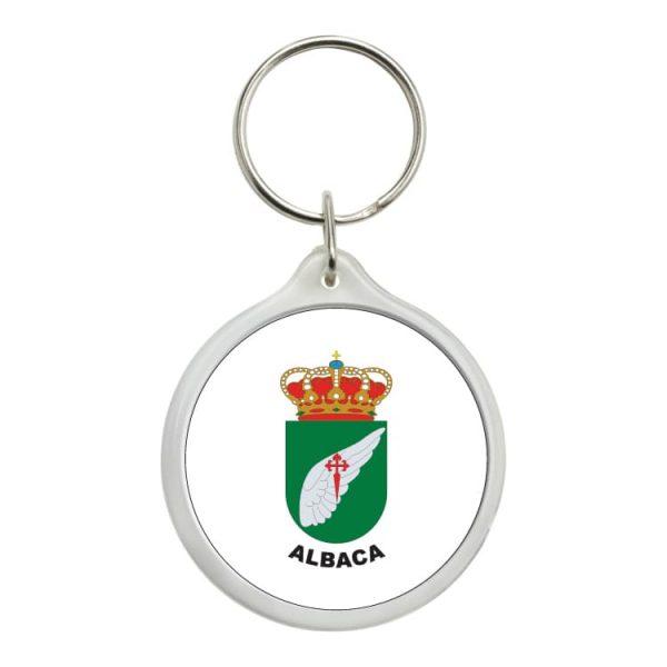 llavero redondo escudo heraldico albaca