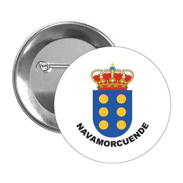 1108 chapa escudo heraldico navamorcuende