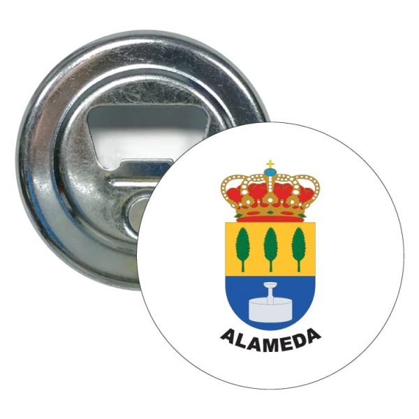 abridor redondo escudo heraldico alameda