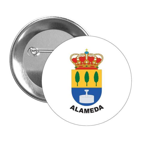 chapa escudo heraldico alameda