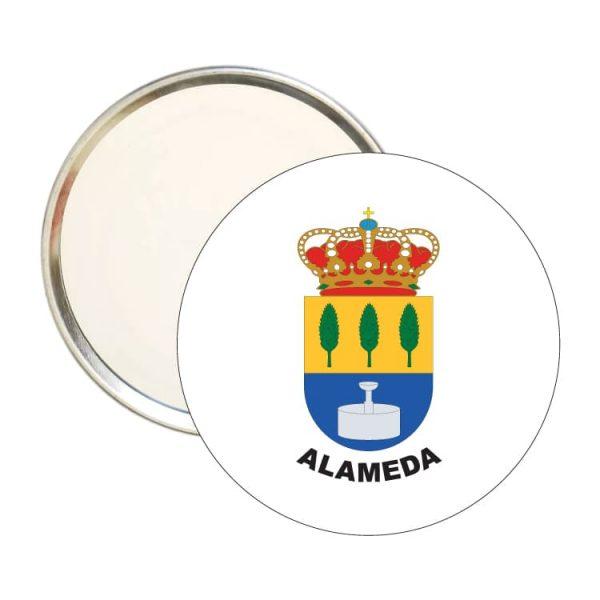 espejo redondo escudo heraldico alameda