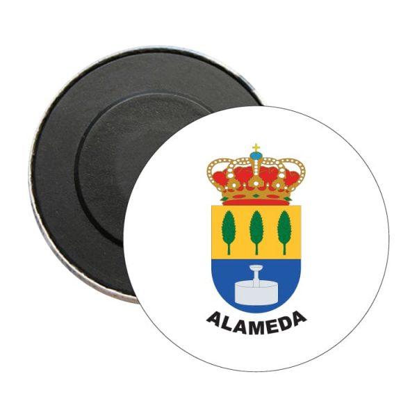 iman redondo escudo heraldico alameda