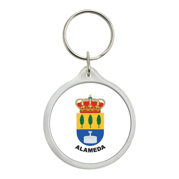 llavero redondo escudo heraldico alameda