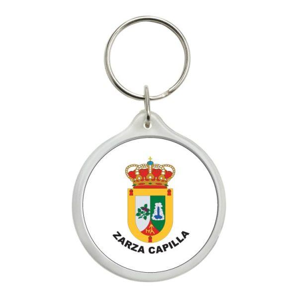 llavero redondo escudo heraldico zarza capilla