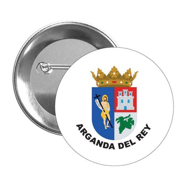 chapa escudo heraldico arganda del rey
