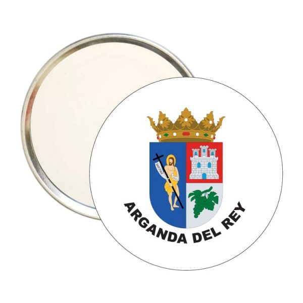 espejo redondo escudo heraldico arganda del rey