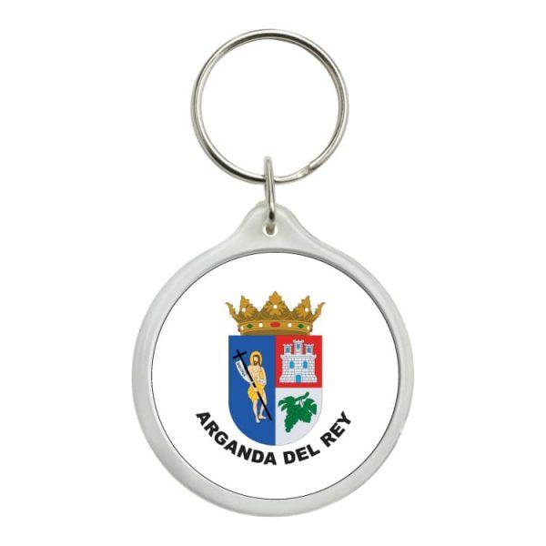 llavero redondo escudo heraldico arganda del rey