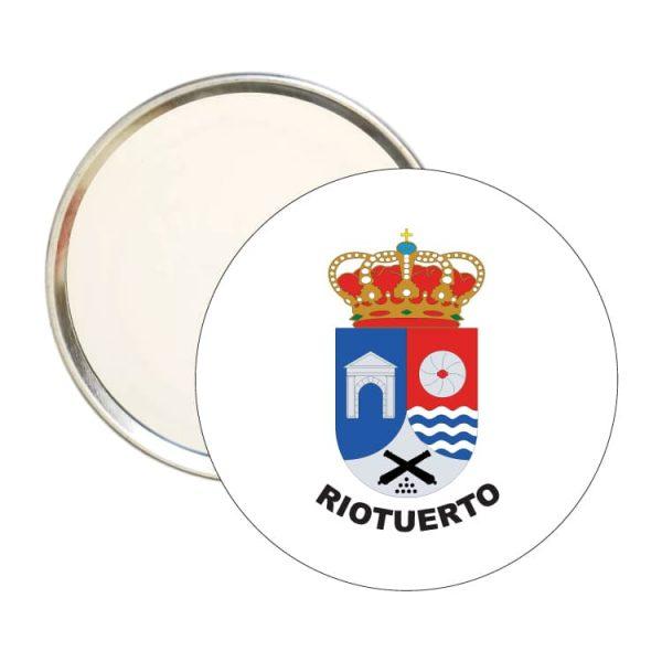 espejo redondo escudo heraldico riotuerto