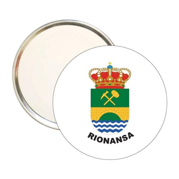 espejo redondo escudo heraldico rionansa