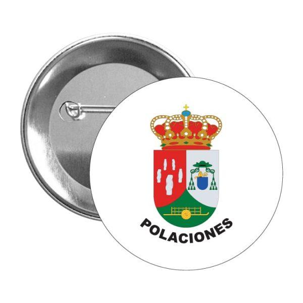 chapa escudo heraldico polaciones