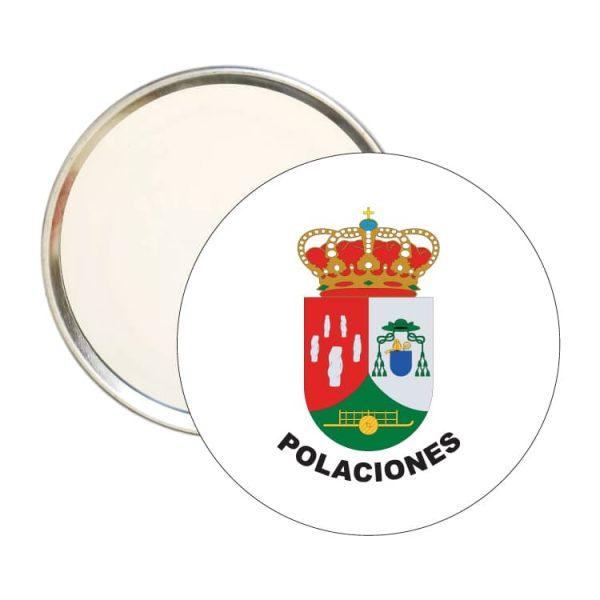 espejo redondo escudo heraldico polaciones