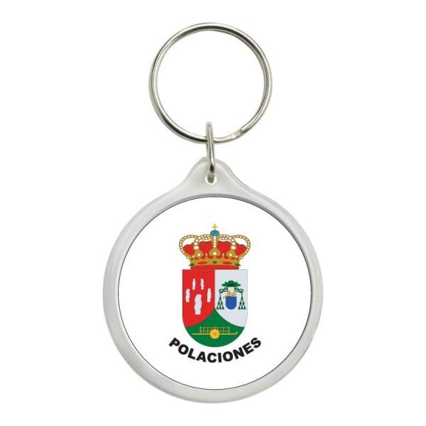llavero redondo escudo heraldico polaciones