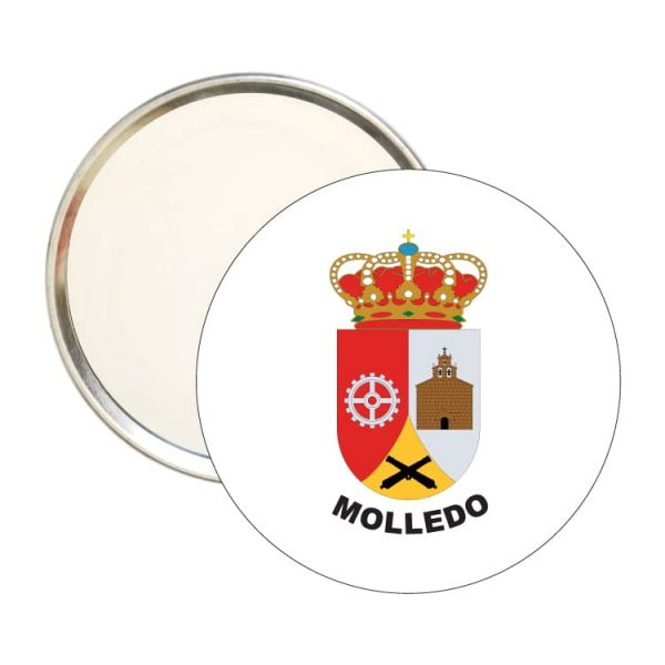 espejo redondo escudo heraldico molledo
