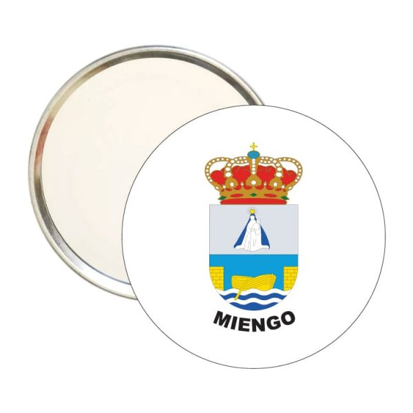 espejo redondo escudo heraldico miengo