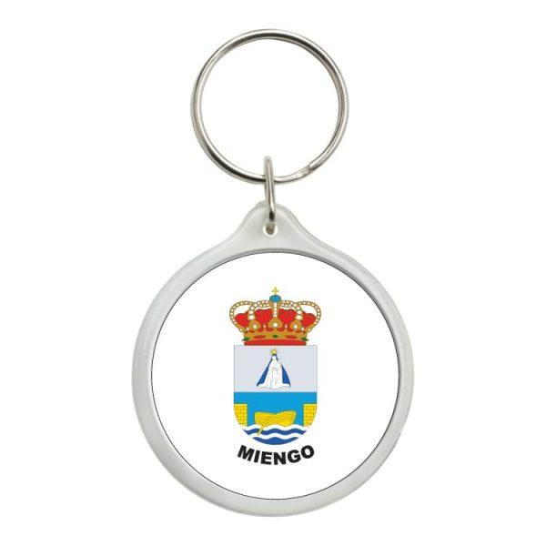 llavero redondo escudo heraldico miengo