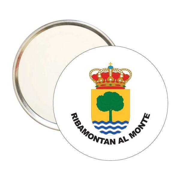 espejo redondo escudo heraldico ribamontan al monte