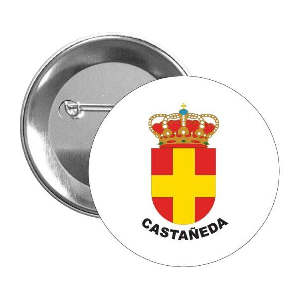 chapa escudo heraldico castañeda