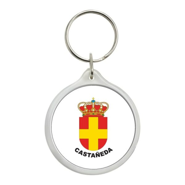llavero redondo escudo heraldico castañeda