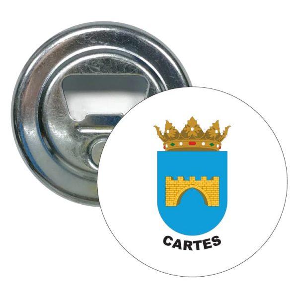 abridor redondo escudo heraldico cartes
