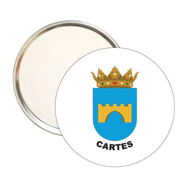 espejo redondo escudo heraldico cartes