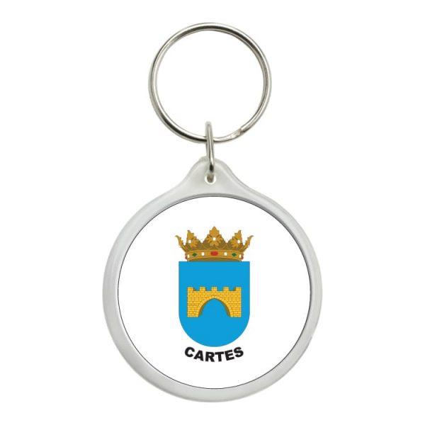 llavero redondo escudo heraldico cartes