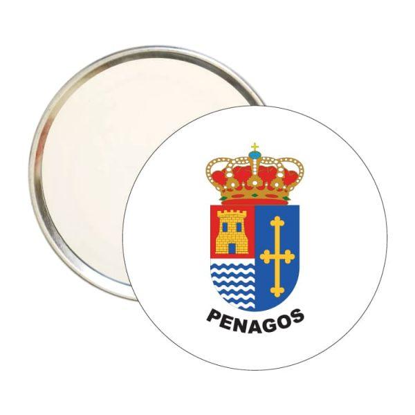 espejo redondo escudo heraldico penagos