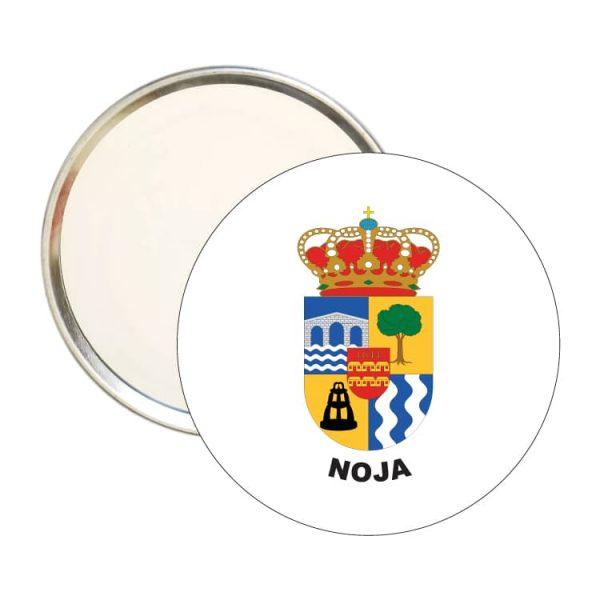 espejo redondo escudo heraldico noja
