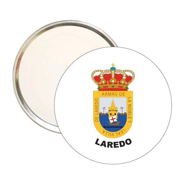 espejo redondo escudo heraldico laredo