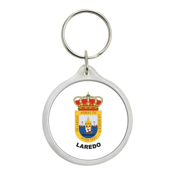 llavero redondo escudo heraldico laredo