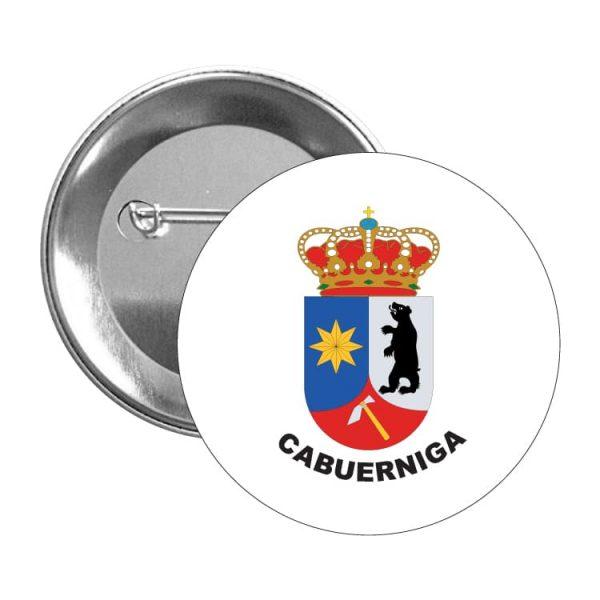 chapa escudo heraldico cabuerniga