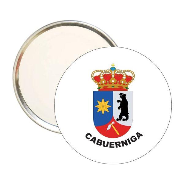 espejo redondo escudo heraldico cabuerniga