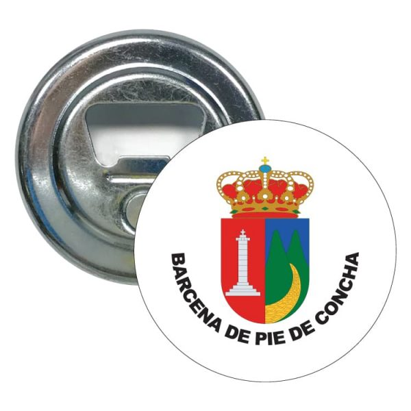 abridor redondo escudo heraldico barcena de pie de concha