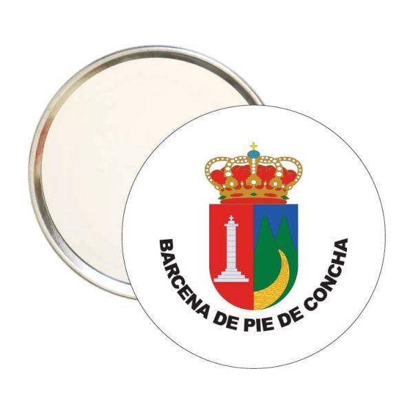 espejo redondo escudo heraldico barcena de pie de concha