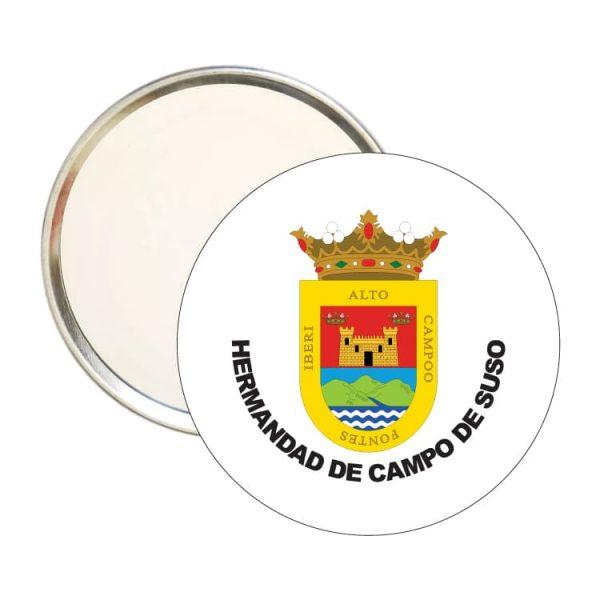 espejo redondo escudo heraldico hermandad de campo de suso