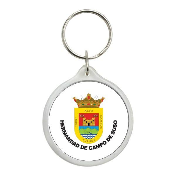 llavero redondo escudo heraldico hermandad de campo de suso